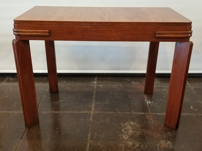 Art deco pier table from England in walnut wood.
